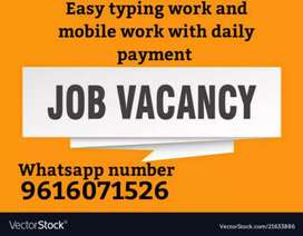 Mobile basis work and typing work