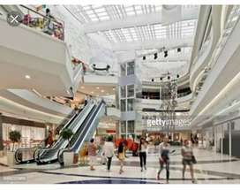 Urgent requirement for shopping mall male and female candidate.