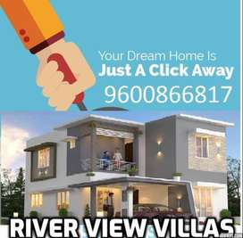 East facing 3 BHK Luxury river view villa for sale in palakkad town