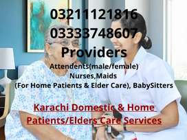 male & female attendants nurses maids baby sitter available