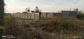3600 sft Open plot with cement compound wall and gate,