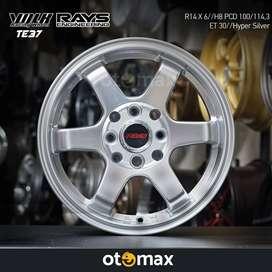 Velg Mobil Volk Rays TE37 (37SL) Ring 14 Hyper Silver