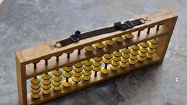 Teacher Wooden Abacus Tool (13 Rods) with Cover