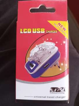 Univesal Travel Charger - Desktop Charger - LCD USB Charger