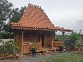 Bangunan Rumah Kayu Joglo mini, Rumah Glaadag Rumah Panggung, Jineman