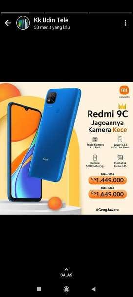 Redmi 9c 3/32 garansi resmi 2 tahun