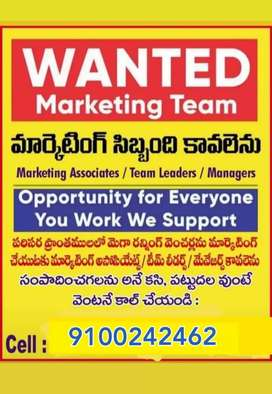 Wanted a marketing executive, marketing managers,telecallers