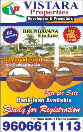 Ready For Registration DC Converted Plots for Sale In Magadi Road