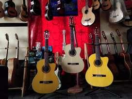 Gitar nilon akustik tanam besi coak