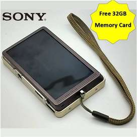 Sony 10.1 Mega Pixel Digital Camera and Charger Battery Free 32GB Card