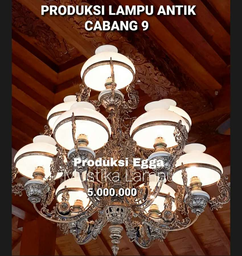 Produksi Lampu Gantung Antik Klasik Hias Joglo Gebyok Gasebo Cabang 9 0