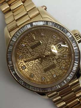 Rolex ladies 18K all gold Diamonds bezel dan dial