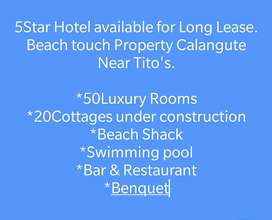 5star hotel available for Lease at Calangute