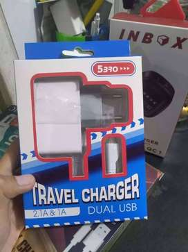 WOW PROMO-CHARGER CAS HP TC 5BRO 2,1A & 1A MIKRO USB-FAST CHARGING