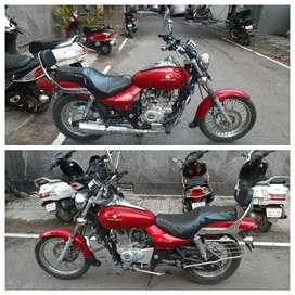 Auto India bajaj avenger 220cc red single hand showroom condition