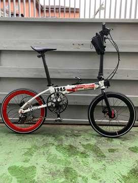 Sepeda Lipat Element Foldx xlite edisi Damn I Love Indonesia