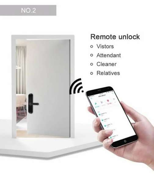 Wifi Electric Door lock Operating From anywhere, access control