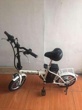 Sepeda listrik bisa di gowes dan bisa dilipat