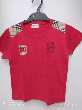 Kaos anak import motif BB
