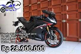 Yamaha R15 V3 Hitam Doff Tahun 2019 Low Km Pajak 4 2022 Siap Gass!!