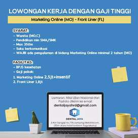MARKETING ONLINE GAJI TINGGI + Frontliner