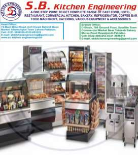 Restaurant kitchen cousin machinery , pizza oven & fast food etc