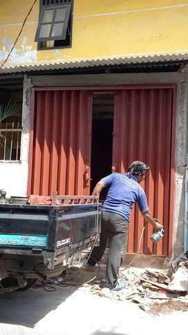 Folding gate rolling door Harmonika daerah bekasi