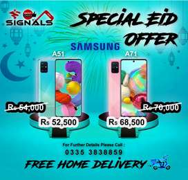 Samsung A51 New Box Pack Pies with free home delivery service