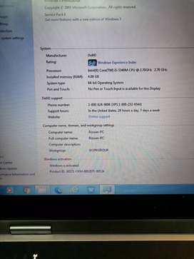 Im selling laptop 3rd generation, core i5