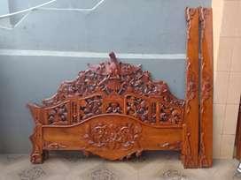Dijual 2 ranjang jepara asli ukrn 180x200