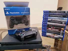 PLAY STATION 4  2 nos.DUAL SHOCK CONTROLLERS More than 15 Games inc.