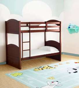 McXander Bunk Bed in Walnut Finish by Mollycoddle