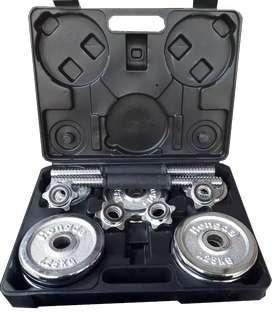 Dumbell Set Box Chrome 15 kg Import