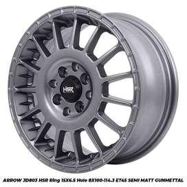 Velg Mobil Vios, Agya, Avanza dll Baru Type ARROW JD803 HSR R15