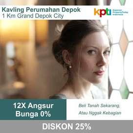 Angsur 12x Bunga 0%: Kapling Depok Kota 400 Jutaan SHM Pecah Per Unit