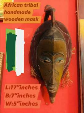 Classic vintage big size African wooden mask very rare and classic