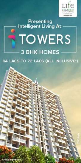 3 BHK Apartment for Sale in Hinjewadi at Kolte-Patil Life Republic