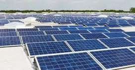 Solar panel  system installation And fitiing charges per plat or visit