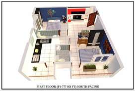 Spacious 2BHK with all Amentities near by