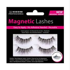 1 Pairs Natural Professional 3D Magnetic Cross Faux Eyelashes Handmade