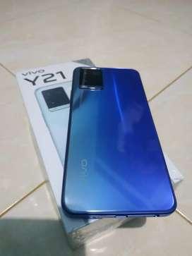 Vivo Y21 Ram 4/64GB warna metallic blue lengkap dan Mulusssssssss