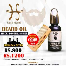 SanoHerbs Organic Beard Growth Oil 100% Natural no side effects