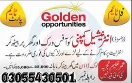 Urgently Females staff Required Online and Office Based