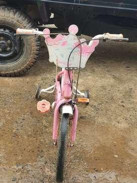 Sepeda anak cewek SKY, uk.16 siap pakai