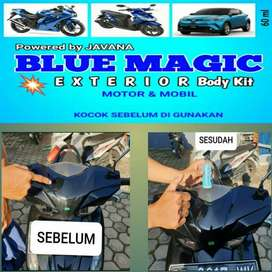 PROMO BLUE MAGIC PENGKILAP BODY HALUS PLASTIK PERMANENT KINCLONG MURAH