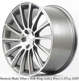 Pelek Murah ROSTOCK BLADE XH911 HSR R20X85/95 H5X112 ET45 GMF
