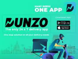 Dunzo Delivery boy or dunzo bike taxi  joining bonus 2000 rupees