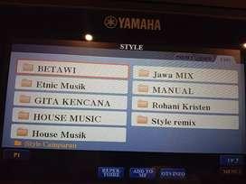 USB Flaskdisk midi Song Style keyboard Yamaha