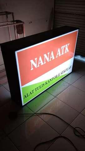 Neon box acrilic Neon box banner