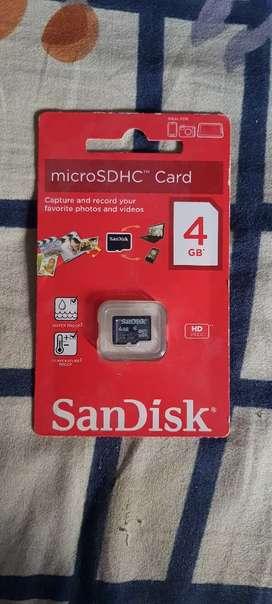 4GB Micro SD Flash Memory card